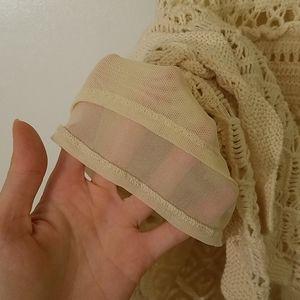 Moda International Dresses - Cotton Beige Macrame Mini Dress Open Back Sz S